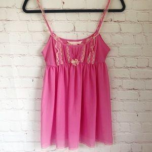 🍁Victoria's Secret pink sheer babydoll nightie XS